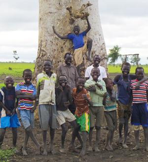 Chavales Sudan del Sur