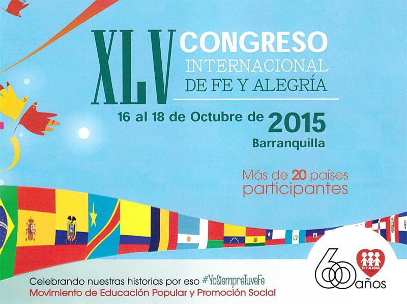 """XLV Congreso de Fe y Alegría """"Culturas juveniles, ciudadanía y paz"""""""