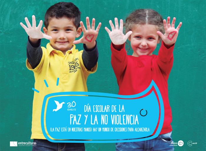 Portada de la unidad didáctica de Entreculturas para el Día Escolar de la Paz y la No Violencia