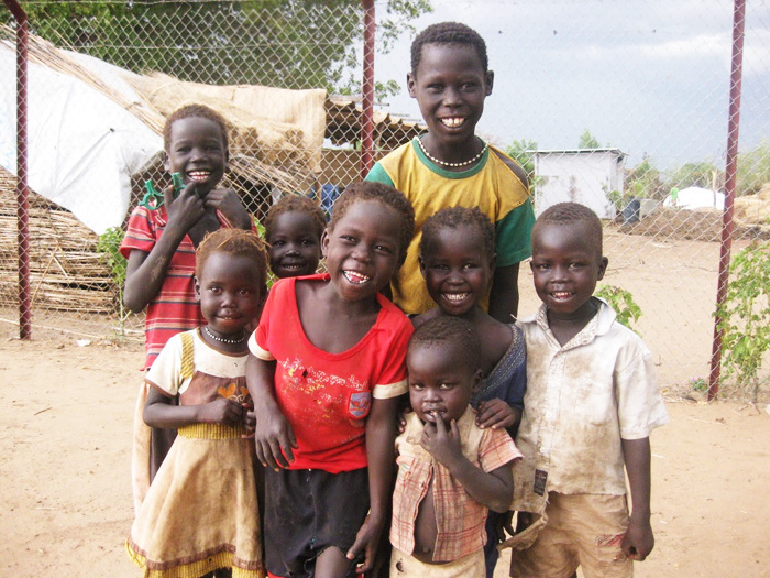 Niños y niñas refugiados en el campo de Maban, Sudán del Sur