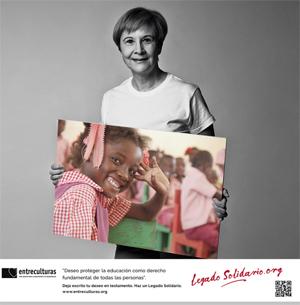 Cartel de la campaña Legado Solidario
