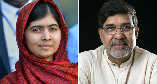 Malala Yousafzai y Kailash Sathyarti