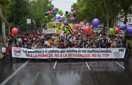 Manifestación Día Internacional para la Erradicación de la Pobreza