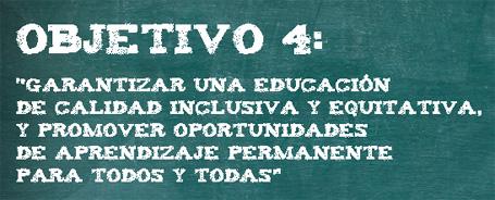 ODS 4 derecho a la educación universal, equitativa y de calidad