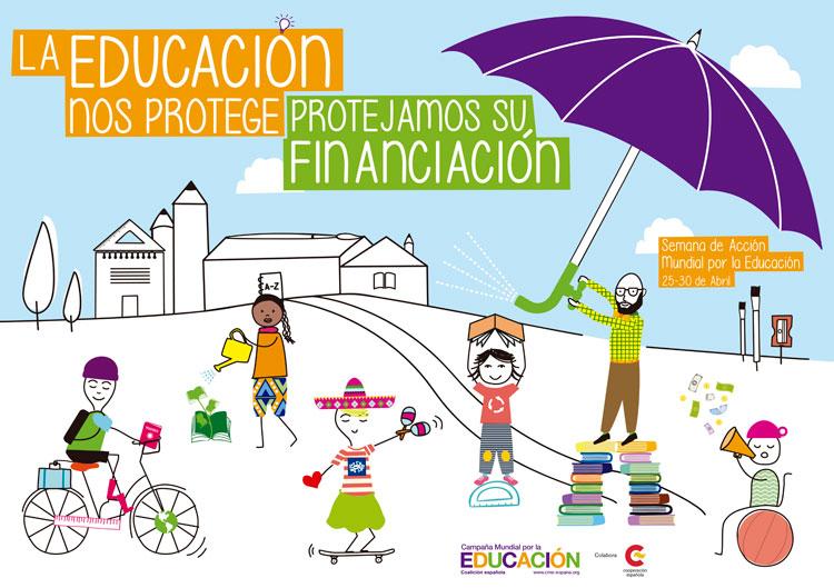 La Campaña Mundial por la Educación se moviliza para recordar a los Gobiernos que están comprometidos internacionalmente a financiar el derecho a la educación