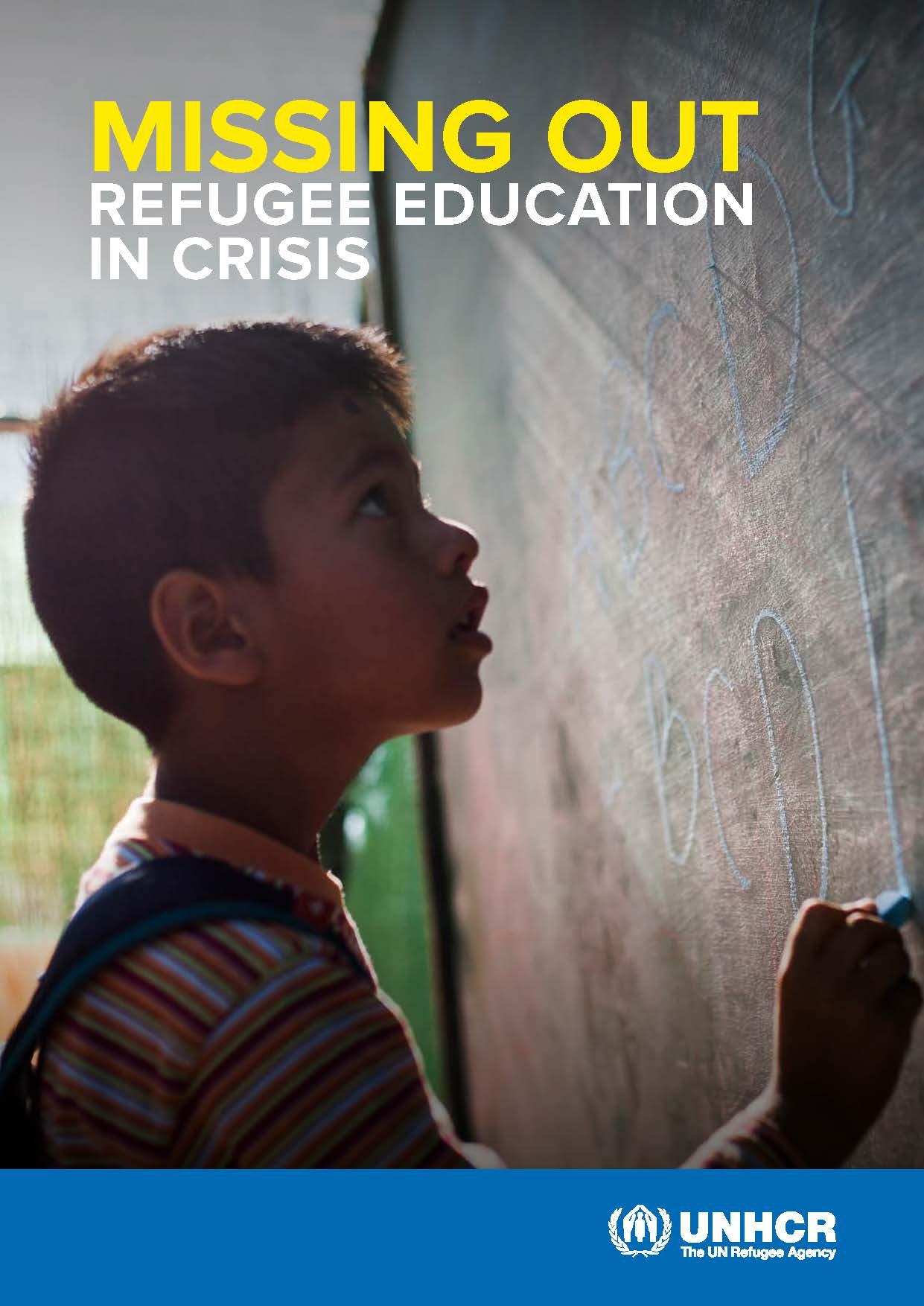 ACNUR: La educación de los refugiados está en crisis