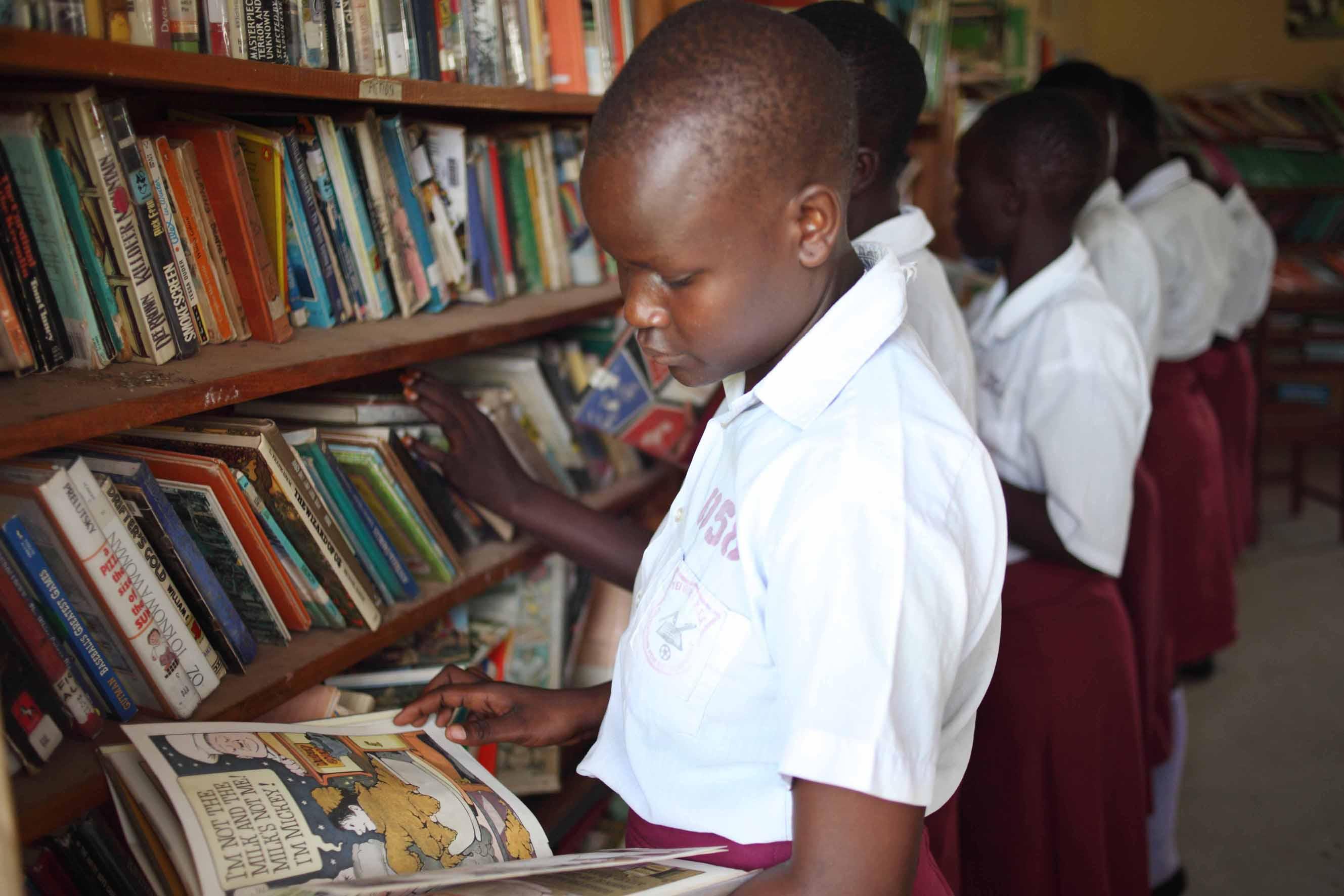 En una biblioteca en Sur Sudán
