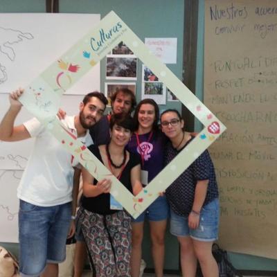 Los representantes de los jóvenes españoles (Entreculturas y Alboan)