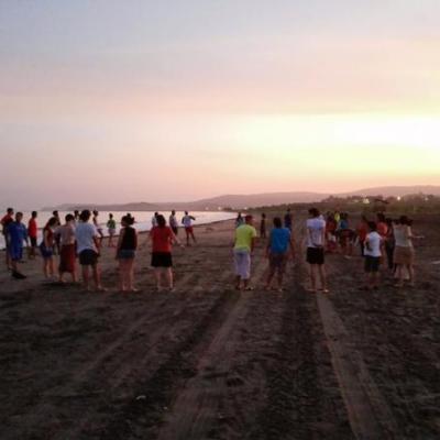 Amanecer en la playa