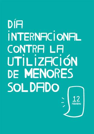 Portada de la Unidad Didáctica Día Internacional Menores Soldado 2016